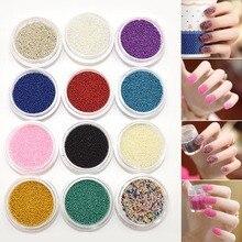 Fashion 12 Colors Nail Art Decoration Caviar Glass Mini Beads Manicures or Pedicures Women Nails DIY Decorations