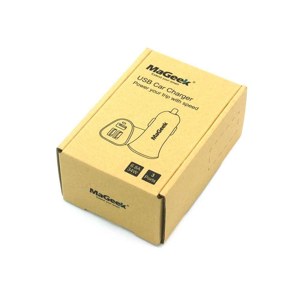 Cargador de coche MaGeek 3 puertos 34W 6.8A cargador de teléfono móvil para iPhone 7 Android Samsung Galaxy S7 S6 Edge nota 3