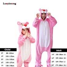 5f9a0f10e0 Pantera Rosa niños Kigurumi Panda manta general adultos niños Sudadera con  capucha Animal pijamas de Navidad