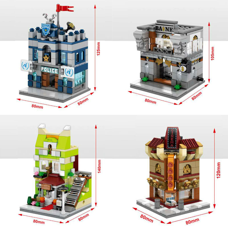 Blocks Model Building Punctual Mini Fast Mart Store Compatible Legoing City Architecture Street View Model Building Blocks Toys For Children Legoings Juguetes Fast Color