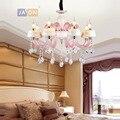 Led e14 железные в стиле постмодерн Хрустальная керамическая розовая люстра освещение Lustre подвесной светильник Lampen для фойе