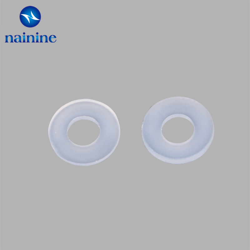 10Pcs-100Pcs DIN125 ISO7089 M2 M2.5 M3 M4 M5 M6 M8 M10 White Plastic Nylon Washer Plated Flat Washer Seals Gasket Ring NL03