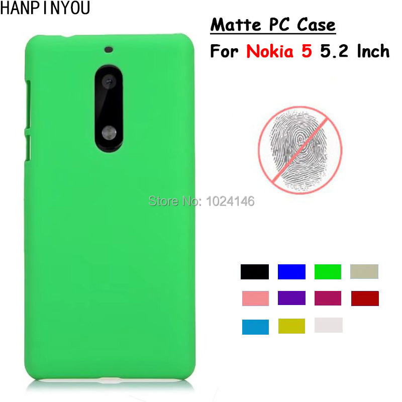 For Nokia 5 Android Phone 2017 5.2 New Slim Matte Hard Plastic Case Candy Color Frosted Anti-fingerprint PC Cover
