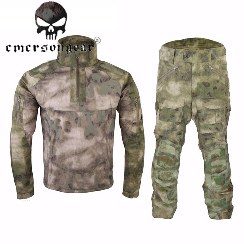 Emerson Combat Uniform Jacket & Pants Military Camouflage Profe. Training Waterproof Breathable Jhillie Suit Airsoft Clothes camouflage suits overalls field training uniform camouflage jungle digital military uniform jacket and pants