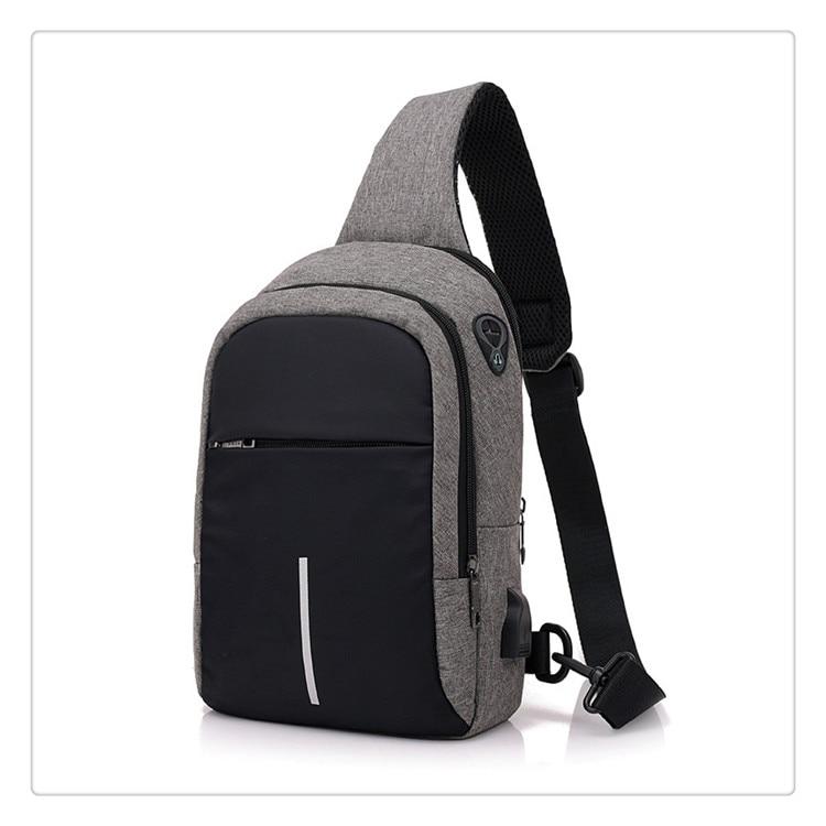 149917d9fd2 Usb Charge One Shoulder Bag Men Messenger Bags Male Waterproof Sling ...