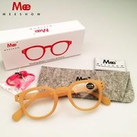 MEESHOW Brand Reading Glasses Women Men Eyeglasses With Gift Box IVORY Glasses Family Gift High Quality