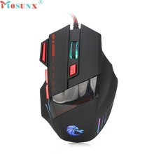 Ecosin2 Mosunx 2017 Professional 7 Buttons 3200DPI USB Optical Wired Gaming Mouse Mice For PC Laptop 17mar16