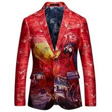 978479ee6e604 Red Floral Men Jacket Promotion-Shop for Promotional Red Floral Men ...