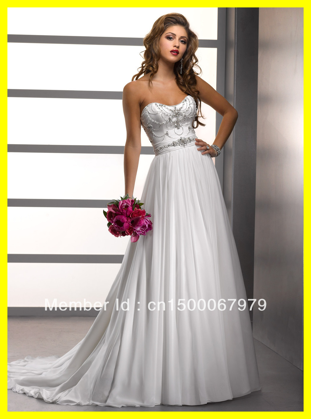 Stunning White And Silver Wedding Dresses Pictures - Styles ...