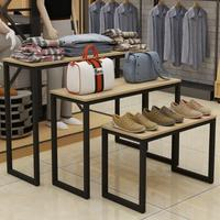 Shopping mall clothing in the island cabinet display rack small table high and low bag display table