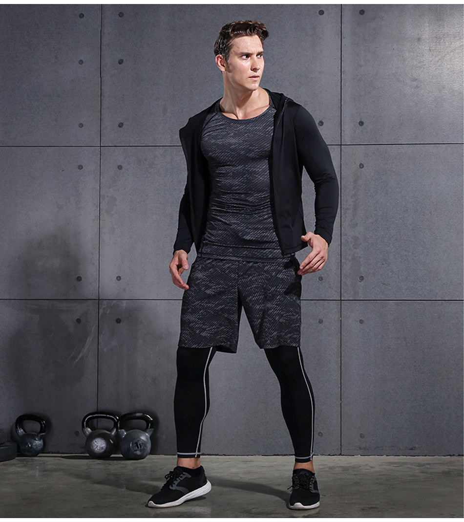 HTB1TIQXbizxK1Rjy1zkq6yHrVXaf REXCHI 5 Pcs/Set Men's Tracksuit Sports Suit Gym Fitness Compression Clothes Running Jogging Sport Wear Exercise Workout Tights