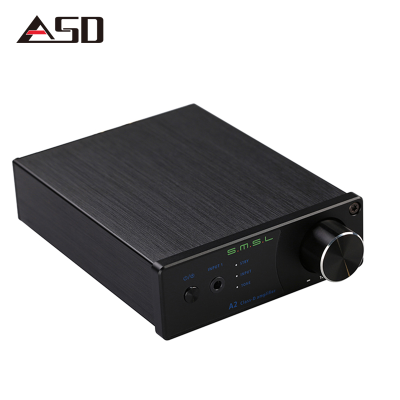 ASD SMSL A2 TDA7492 40W*2 Class d HiFi Pure Stereo Digital Audio Amplifier Input AUX/RCA Active Subwoofer LED Display EQ Setting