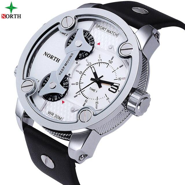 NORTH Brand Fashion Men's Sports Watches 2018  Quartz Hour Clock Man Leather 3