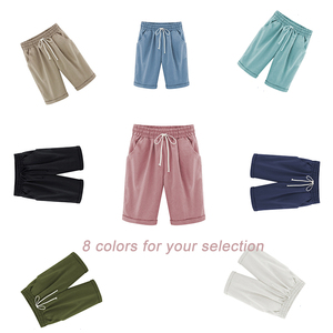 Image 2 - Summer Female Five Pants Thin Outer Wear Pants Large Size Women Slacks 6XL Casual Pants Harem Pants Beach Wear
