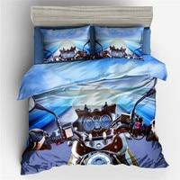 Fanaijia 3d motorcycle Duvet Cover Set Kids Bedding Set Queen Size Bed Set full size bed set bed in a bag