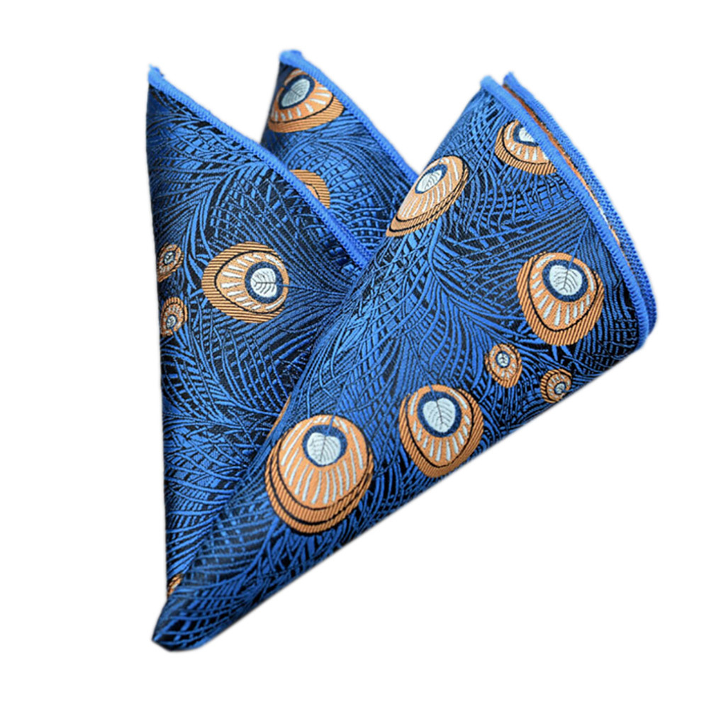 Snowshine YLW Fashion Men Floral Print Retro Suit Pocket Square Scarf Soft Chest Towel Free Shipping_3.27