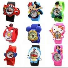 2016 New Children Cute Jelly Cartoon Watch, Children Q Version Quartz Watch Casual Watches Kids Clock Relogio Feminino Hot Sale