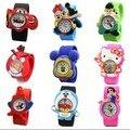2016 Novas Crianças Bonito Geléia Relógio Dos Desenhos Animados, crianças Versão Q Relógio de Quartzo Casual Relógios Crianças Relógio Relogio feminino Venda Quente