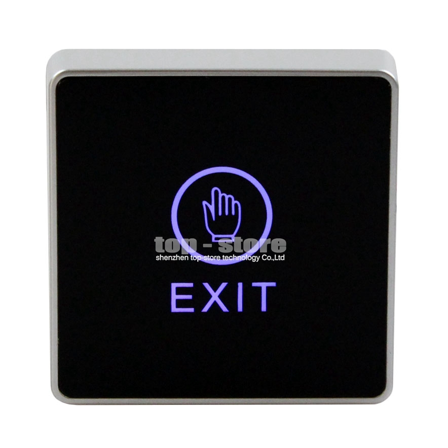 DIYSECUR Infrared Contactless Bule Backlight Touch Exit Button \ Door Release Switch for Access Control Free Shipping diysecur infrared contactless bule backlight touch exit button door release switch for access control free shipping