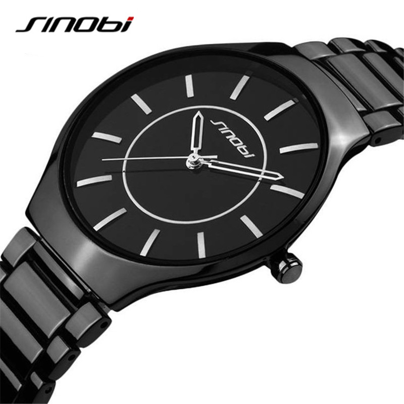 SINOBI New Slim Clock Men Casual Sport Quartz Watch Mens Watches Top Brand Luxury Quartz-watch Male Wristwatch Relogio Masculino кольца