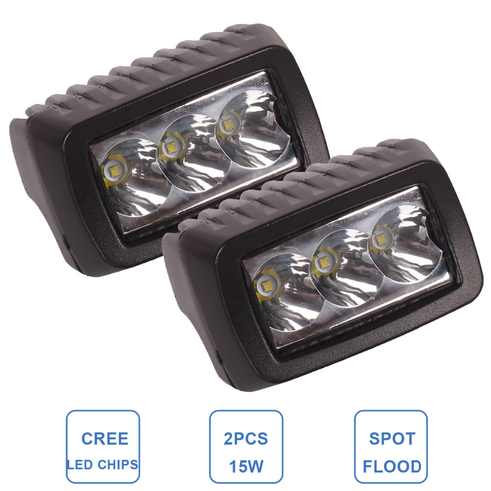 Prix pour 15 W Offroad LED lampe de Travail Bar Conduite Brouillard Lampe CREE PUCES voiture ATV SUV 4WD 4X4 Moto Camion Auto Bateau Wagon Vélo phare