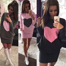 Moda Kalp Bayanlar Baskı Elbise Kış Sıcak Pamuk Bodycon Uzun Kollu Elbise