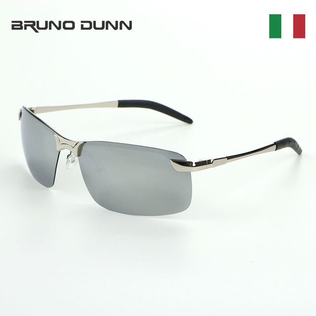 d3a4cd1f64 Bruno Dunn Aluminum Mirror Polarized Sunglasses Men 2018 Women Brand  Designer Eyewear Sports Driving Fishing Sun Glasses 3043
