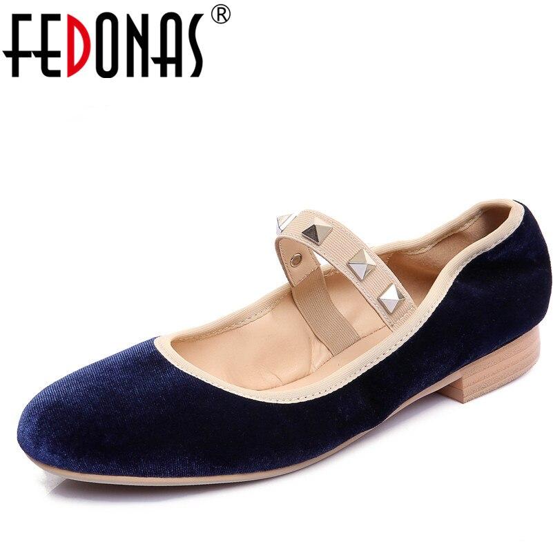 FEDONAS 2018 High Quality Women Elegant Velvet Flats Shoes New Spring Mary Jane Wedding Party Retro Shoes Woman Sexy Flat цена 2017