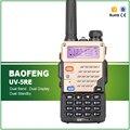 Únicos más nuevos 5 w color dorado envío auricular baofeng uv-5re doble banda de radio de jamón transceptor amateur