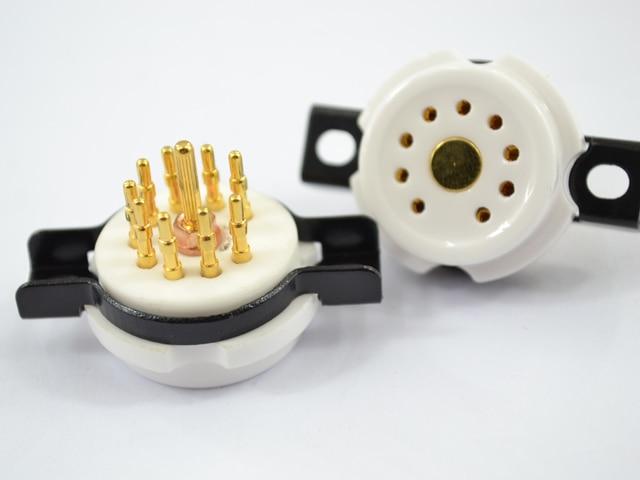 Керамический 9 контактов ламповая панель для Amp 9pin костюм для 12AX7/U7/X7/6922/EL84 10 штук