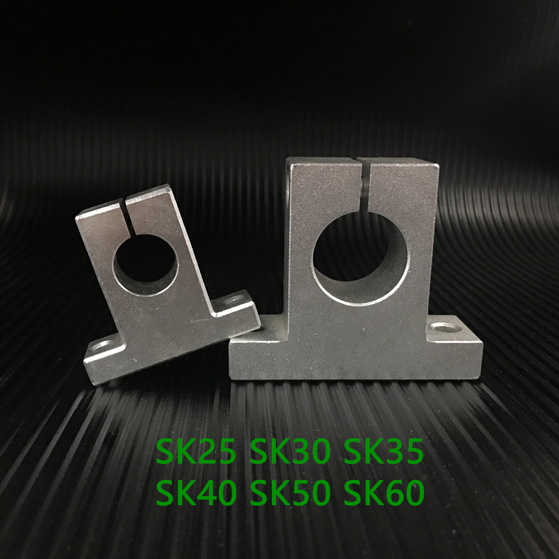 Sk25 Sk30 Sk35 Sk40 Sk50 Sk60 Linear Shaft Support Sh25a Linear Rail Shaft Support 25mm Xyz Table Cnc Parts 60mm sk60 linear rail shaft guide support bracket bearing cnc step motor