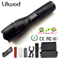 Litwod Z20 LED Flashlight XML L2 8000LM Portable tactical light Torch waterproof lantern 5 Modes Zoom for Camping Riding Light