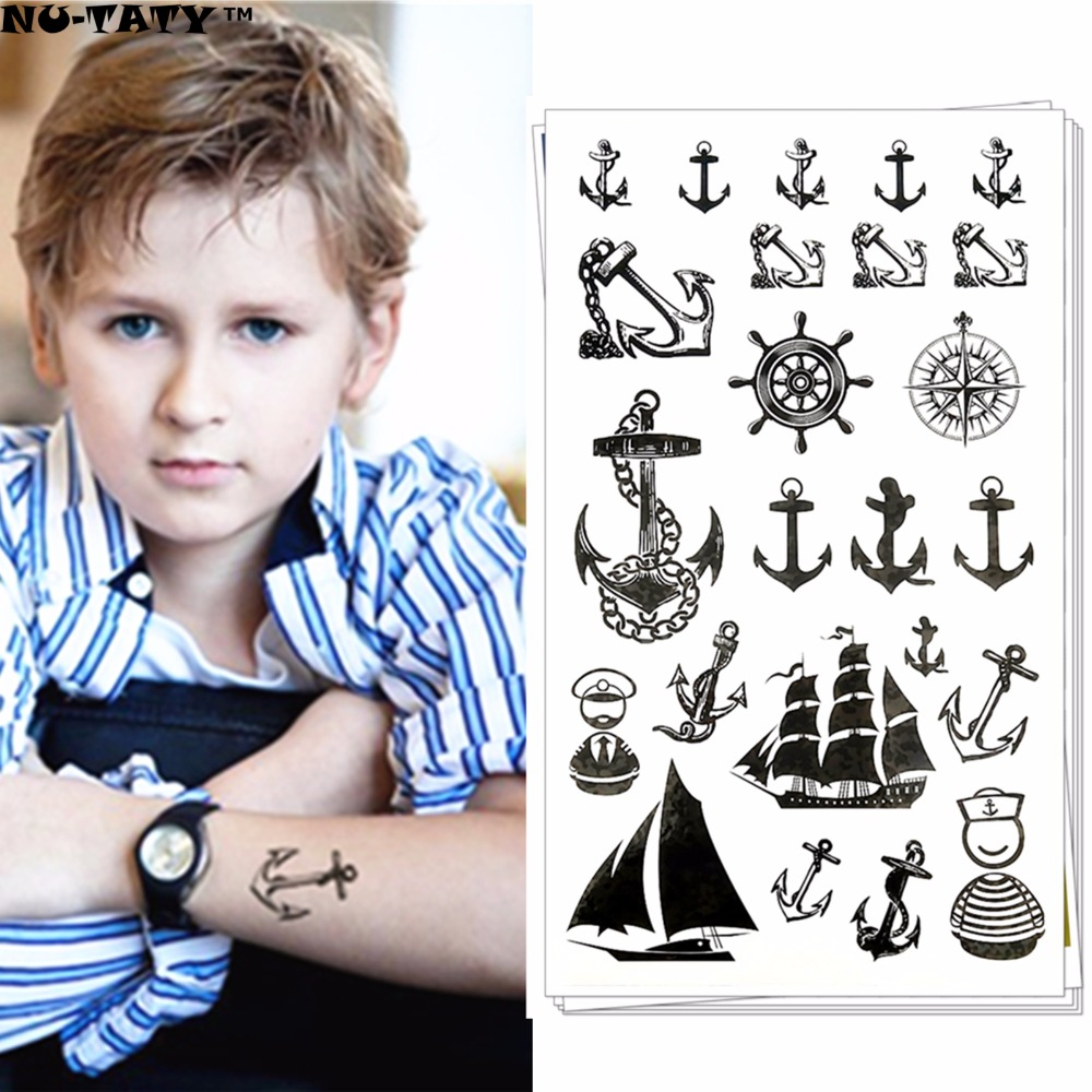 Nu-TATY Black Dragon Totem Temporary Tattoo Body Art Arm Flash Tattoo Stickers 17*10cm Waterproof Fake Henna Painless Tattoo 7