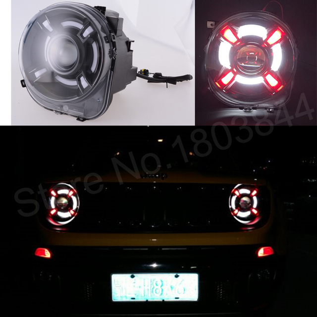 Led Lights Jeep Renegade: 2017 For JEEP Renegade Headlights For Renegade LED Head