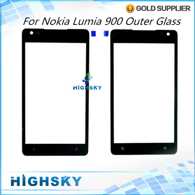 10 pcs/lot Free HK Shipping Tested For Nokia Lumia 900 Touch Screen Outer Glass N900 LCD Screen Front Lens+Free Tools