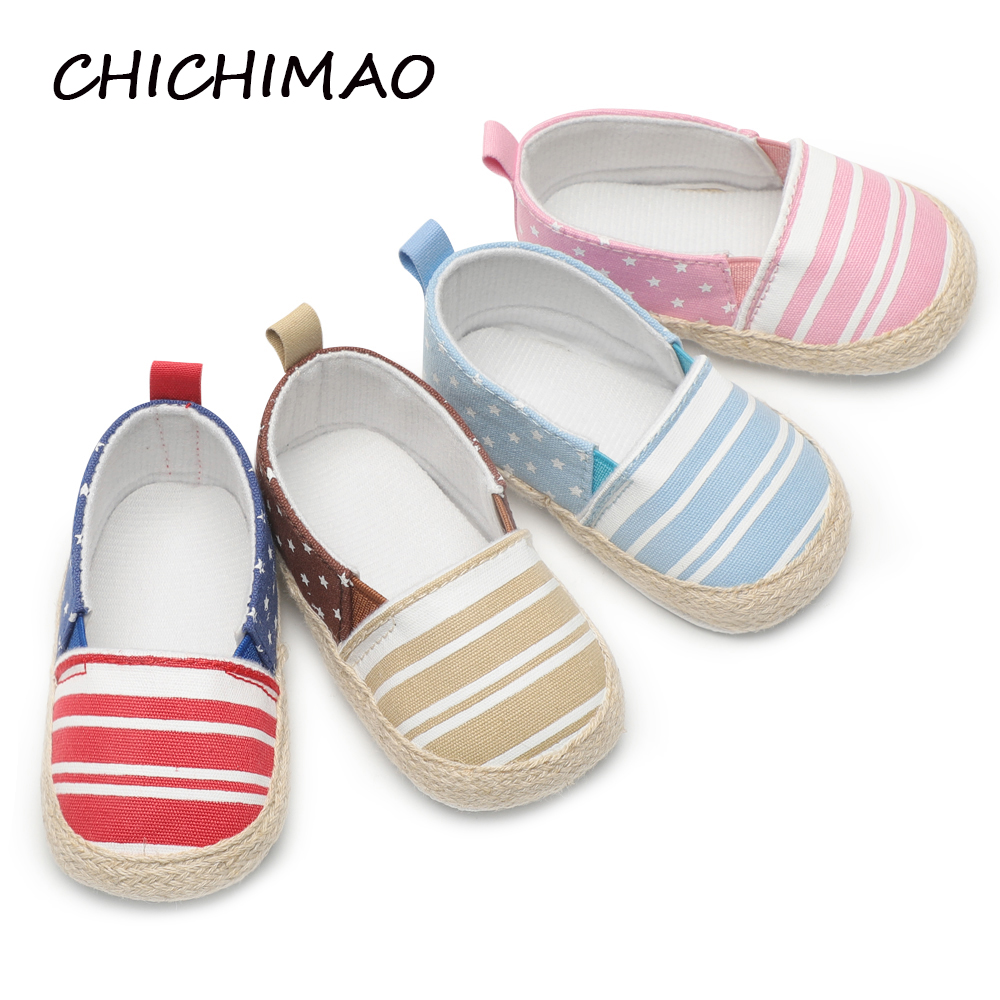 Newest Spring Autumn Toddler Infant Baby Girl Boy Shoes Casual Sneaker Slip-On Soft Sole Crib Shoes Kids First Walkers 0-18 M