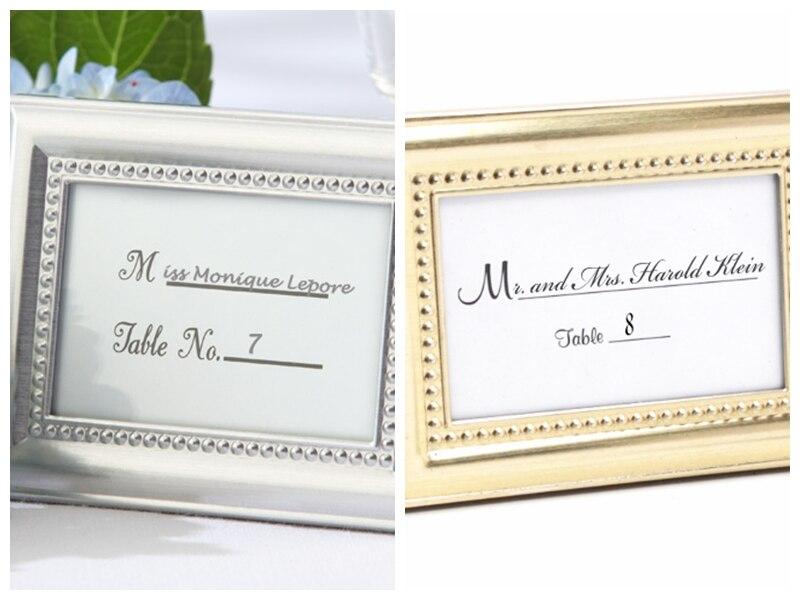 10 teile/los) silber Bilderrahmen Hochzeit Gefälligkeiten Als Gold ...