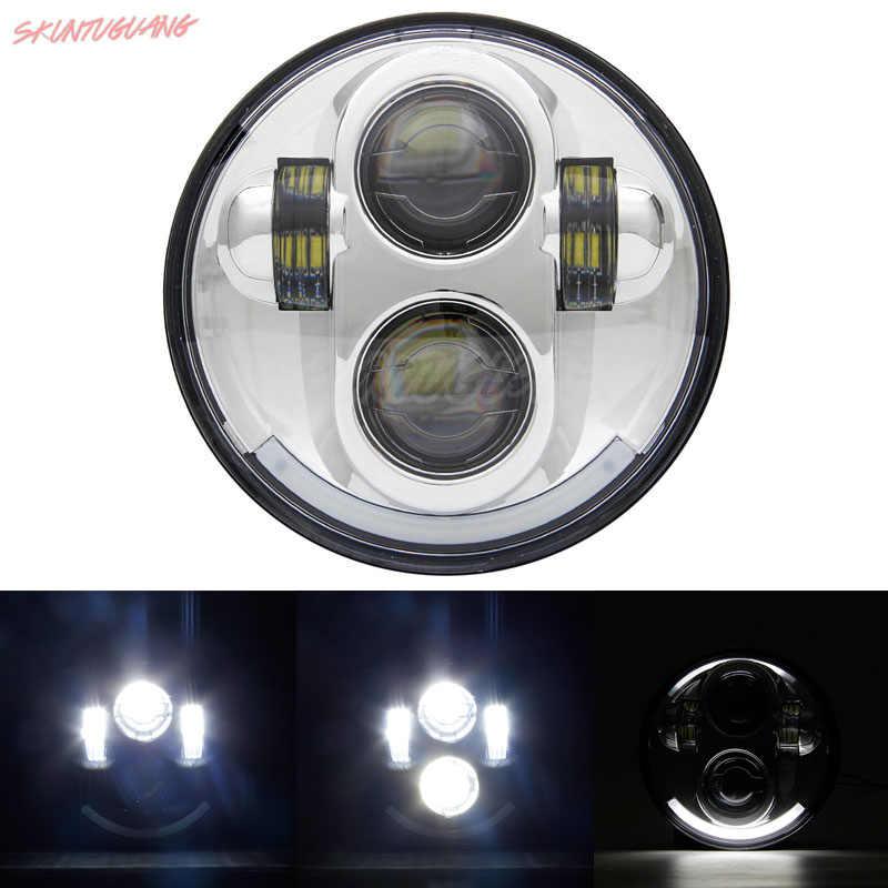 5 75 дюймов круглый светодиодный фонарь 40 Вт DRLProjector свет Hi/Lo луч фара мотоцикла для