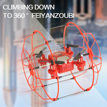 RC flying ball FY802 rc drone helicopter 3 in1 toy 4CH 6 Axis Gyro Remote Control Quadcopter Wall Climbing Drone RTF vs U816A