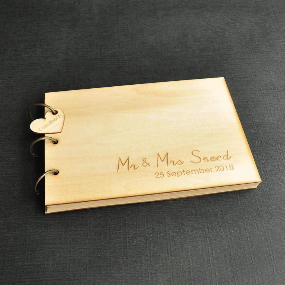 Персонализированная Свадебная книга для гостей, Свадебная Гостевая книга в деревенском стиле Свадебная книга пожеланий гостей подарок на девичник