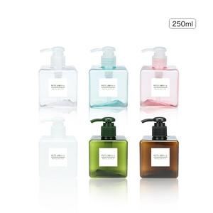 Image 3 - 1pcs PETG large capacity emulsion bottling bottle 100/150/200/250/450ml shower gel shampoo moisture filled plastic bottle BQ023