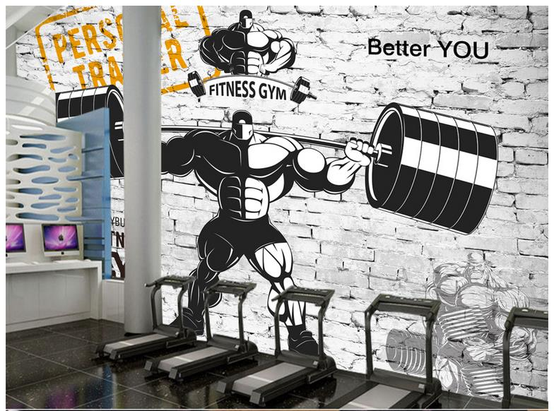 Sport Wallpaper Gym: Custom 3d Photo Wallpaper 3d Murals Wallpaper Mural
