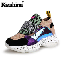 RIZABINA Women Fashion Sneakers New Style Lace Up Casual Shoes Womens Street Hiking Vacation Lady Daily Footwear Size 35-40