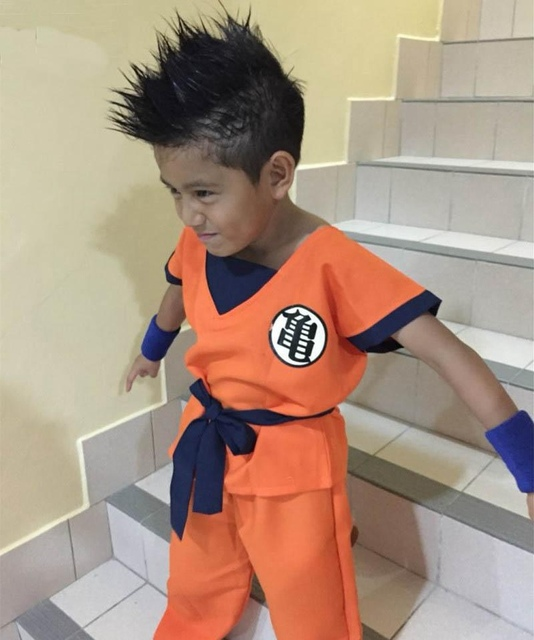 Kids Dragon Ball Z Son Goku Cosplay Costume