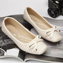 1d426372973 2019 de las mujeres zapatos planos de arco cuadrado de la boca baja del dedo  del pie zapatos de barco zapatos Slip-on mocasines .