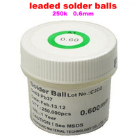 1PCS PMTC Leaded Solder Balls 250k 0 6 Mm For Bga Reballing Station Hot Sale