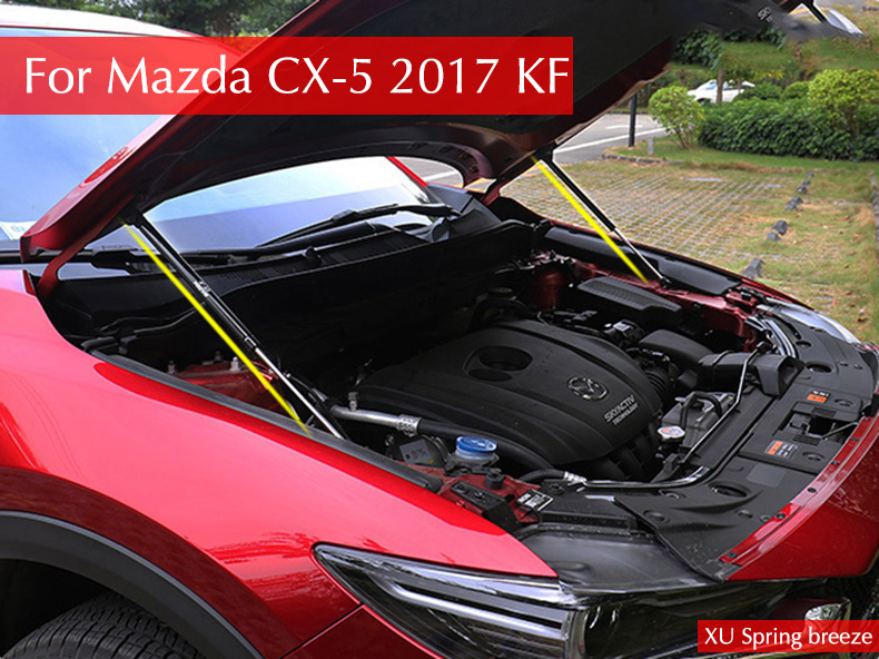 For Mazda CX5 Hydraulic Rod Refit Front Hood Engine Cover Hydraulic Rod Strut Spring Shock Bar For Mazda CX-5 2017 2018 KF