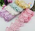 7.3cm Multi colors option Butterfly shape knitting Embroidery Cotton Lace DIY Sewing Accessories 1yard/lot 050025072
