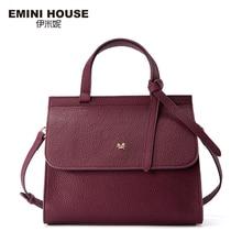 EMINI HOUSE Bow Tie Handbag Genuine Leather Flap Bag Women Messenger Bags Luxury Handbags Women Bags Designer Shoulder Bag