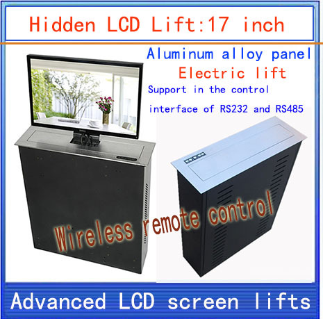 LCD Lifter \ hidden \ Monitor Lifts \ lift bracket \ LCD electric lift \ wireless remote control movements \ 17-inch lift lcd tv lifter hidden monitor lifts lift bracket lcd electric lift wireless remote control movements 22 inch lif